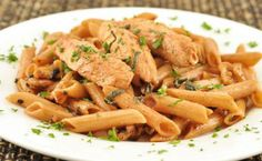 Penne with Chicken, Walnuts and Sage Brown Butter: A simple yet elegant dish that gets its nutty flavor from sage brown butter. Making brown butter is an easy and useful technique to learn. Sage Chicken, Chicken Pasta, Pasta Recipes, Chicken Recipes, Butter Recipe, Brown Butter, Penne, Pasta Dishes, Entrees