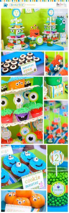 Monster Birthday Party Mega Set - PERSONALIZED PRINTABLE DIY - BX25x. $35.00, via Etsy. CAKE!