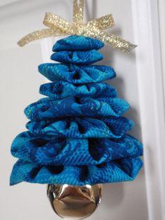 Schattierungen von blau Karo Print Jingle Bell Yo von SursyShop