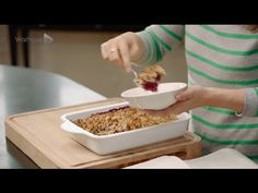 Deliciously Ella Blackberry and Apple Crumble for Waitrose - YouTube