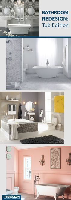 There's nothing more luxurious than a bubble bath. But a tub is for more than just soaking, it can also set the stage for your bathroom design style. Visit Ferguson Bath, Kitchen & Lighting Gallery and choose a tub that fits your personal taste whether it's traditional, transitional or modern. You'll find a variety of sizes and configurations that suit any bathroom layout, even those with space limitations.