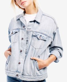 FREE PEOPLE Cotton Trucker Jacket | TempEdit_SizeSame or Upx1