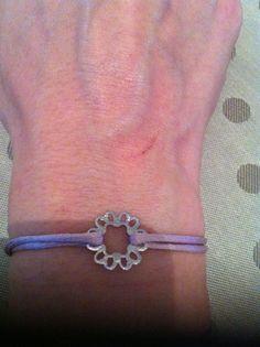 Bracelet lien coulissant rose#Flower#Made in Happy Lau••