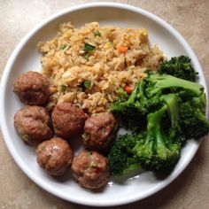 Asian Meatballs, this one actually has recipe
