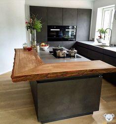 Kitchen Room Design, Modern Kitchen Design, Home Decor Kitchen, Interior Design Kitchen, Kitchen Furniture, New Kitchen, Home Kitchens, Kitchen Island, Island Table