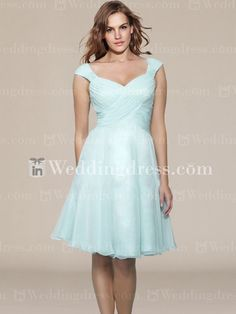 Hawaii Chiffon Mother of the Groom Dress with Cap Sleeves MO138    This would be cute with a little jacket in same color/material