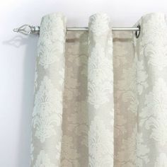 Chooty and Co Tyler Natural Flocked Grommet Curtain Panel - modern - curtains - Hayneedle
