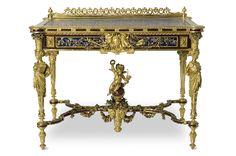 christofle de paris gilt bronze | table de toi lette émile reiber 1826 1893 des si na teur albert ...