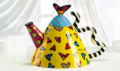 Colorful teapot, Romero Britto´s collection