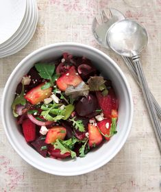 Bloggist living in St. Remy de Provence shares this lovely beet salad. Great way to showcase not only beets, but those lovely spring greens.