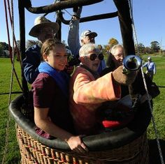Marian Young did not want to celebrate her 90th birthday next month with a birthday party. Instead, she thought she might have a hot air balloon ride