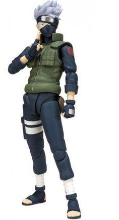 Fugura Hatake Kakashi, 15cm. Naruto Shippuden SH Figuarts  Figura de 15cm basado en el manga y anime de Naruto con el personaje Hatake kakashi.