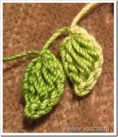Crochet Leaves - Tutorial