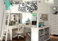 Find cute and cool girls bedroom ideas at Pottery Barn Teen. Shop your dream room with our teen room inspiration and ideas. Dream Bedroom, Room Design, Bedroom Makeover, Room Makeover, Awesome Bedrooms, Cool Beds, Home, Girls Bedroom Makeover, Dream Room