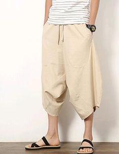 2017 summer Japanese Samurai Boho Low drop Crotch Loose Harem pants Baggy Hakama swag Cross Sweatpants Hiphop Dance Trousers