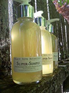 Super-Simple Organic Facial Wash Big Size Paraben And Sulfate Free. $25.00, via Etsy.
