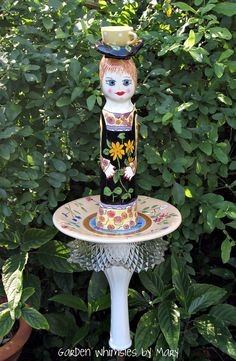 Garden Totem Stake Lady of the Garden  As by GardenWhimsiesByMary, $30.00