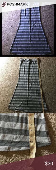 Halter top Dress New! Halter top grey striped dress. Perfect for the spring/summer time. Please feel free to ask any questions. Poof! Dresses