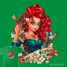"""""""Fate Loves the Fearless"""" by Tim Shumate Inspired by Merida of Brave"""