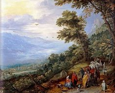 Jan Brueghel the Elder - Gathering of Gypsies in the Wood (1614)