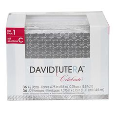 David Tutera™ Celebrate A2 Card and Envelope Sets in Embossed Metallic Silver