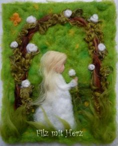 Rosentraum von Filz mit Herz
