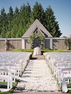 50 Shades of Green Oregon Wedding from Laura Nelson Photography - wedding ceremony idea