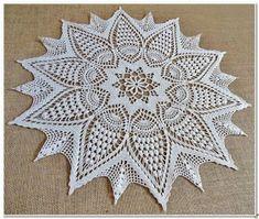 Home Decor Crochet Patterns Part 144 - Beautiful Crochet Patterns and Knitting Patterns Crochet Doily Patterns, Crochet Motif, Crochet Doilies, Crochet Lace, Knitting Patterns, Crochet Diagram, Crochet Decoration, Crochet Home Decor, Mo S