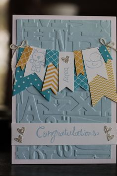 Use Birthday embossing folder instead...Baby banner -  Jessica Culley