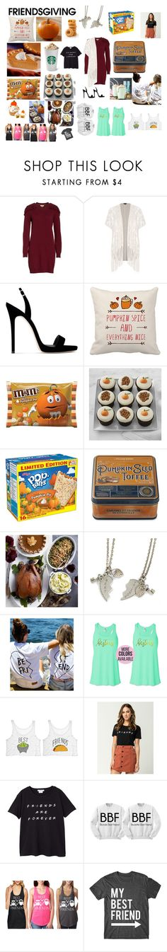 """""""Autumn/Friendsgiving/Thanksgiing"""" by hi-holly ❤ liked on Polyvore featuring Treasure & Bond, City Chic, Giuseppe Zanotti, Williams-Sonoma, Sweet Romance, MANGO and plus size clothing"""