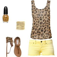 Cheetah and a bright color for summer