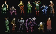 The Metal Gear Solid Cast As Cartoon Characters Mgs V, Gear Art, Metal Gear Solid, Geek Chic, Cartoon Characters, Amazing Art, Comic Art, Gears, It Cast