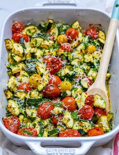 Garlicky Parmesan Zucchini Bake is Perfect for Clean Eating Style Brunch! - Clean Food Crush
