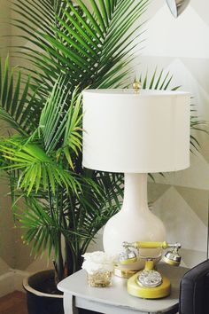 Audrey Lamp // Lulu & Georgia // Anna Liesemeyer // living room // white and gold // side table // #decor
