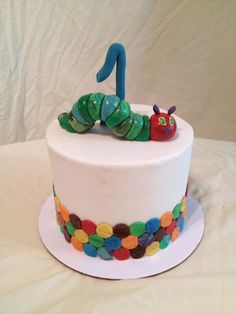Creative Crumbs: Very Hungry Caterpillar Birthday smash cake. Minus the caterpillar in top fir Michael. Hungry Caterpillar Cake, 1st Boy Birthday, Birthday Cakes, Birthday Ideas, Birthday Parties, Birthday Cake Pictures, Fashion Cakes, Occasion Cakes, Cute Cakes