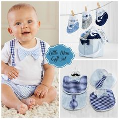 """Little Man"" Baby Gift Set"