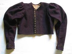 Kabátek soukenný. Kabátek ženského svátečního kroje z Pozlovic, kolem 1880. Muzeum Jihovýchodní Moravy Zlín Folk Costume, Costumes, Traditional, Sweaters, Fashion, Moda, Dress Up Clothes, La Mode, Sweater
