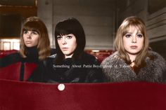 "truthaboutthebeatlesgirls: ""Scala Theatre - Colorized On March 25, 26, & 30, 1964 filming for A Hard Day's Night moved to the Scala Theatre. Sitting together in the near empty theatre watching the action were Astrid Kirchherr (the Beatles long time..."