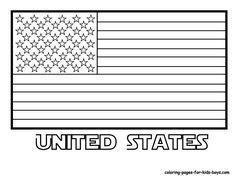 American Flag Coloring Page With Exclusive