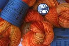 Yarn inspired by Doctor Who. My favourite is this one, named Gallifrey.