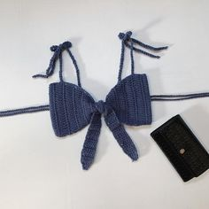Processing time is 3 to 5 business days. All orders are express to 5 business days). Please feel free to request customization for any order or if you have any questions about the materials being used please shoot me a message. Crochet Bra, Crochet Bikini Pattern, Crochet Halter Tops, Crochet Crop Top, Crochet Blouse, Cute Crochet, Crochet Crafts, Crochet Clothes, Swimsuit Pattern