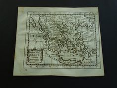 GREECE 230 years old map of Greece 1781 by DecorativePrints