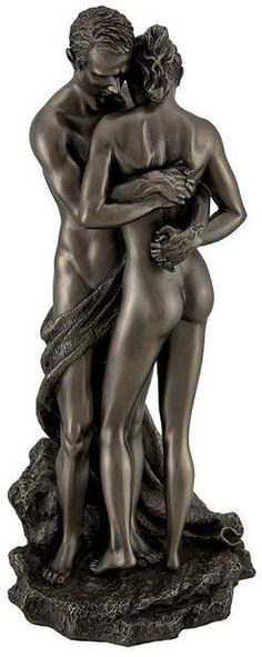 Man Holding Woman The Lovers Statue