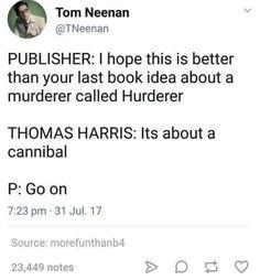 Hannibal humor | Thomas Harris