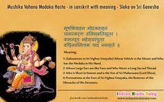 Know the meaning of sanskrit slok of Lord Ganesha - 'Mushika Vahana Modaka Hasta'