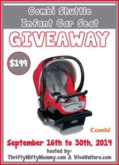 combi shuttle infant car seat giveaway