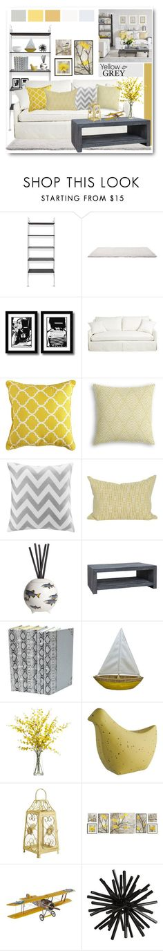 """""""Yellow & Grey Interior"""" by brendariley-1 ❤ liked on Polyvore featuring interior, interiors, interior design, home, home decor, interior decorating, Blu Dot, Pier 1 Imports, Intelligent Design and Fornasetti"""