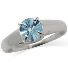 124ct Genuine Fancy Cut Blue Topaz 925 Sterling Silver Solitaire Ring Size 9 >>> Want additional info? Click on the image.