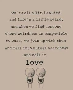 Love, being together quote
