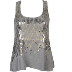 NWT Forever 21 Trapeze Sequin Knit Tank-Medium NWT Forever 21 Trapeze Sequin Knit Tank-Medium. Add some sparkle to your ensemble with this eye catching sequin sleeveless knit top. Solid Colored Back Side, Gray with Metallic Details on the Front. Tank Top is machine washable! Fast Shipping! Smoke Free Home! Open to Offers on my Items or 15% off Bundles! Top 10% Seller!  Forever 21 Tops Tank Tops
